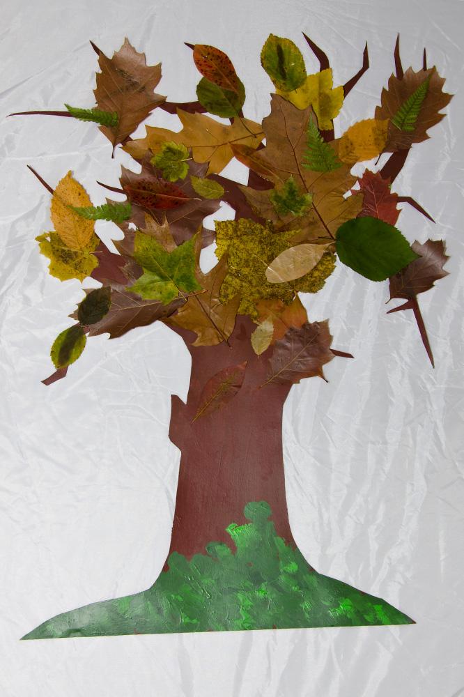 Blätter Baum Basteln Dansenfeesten