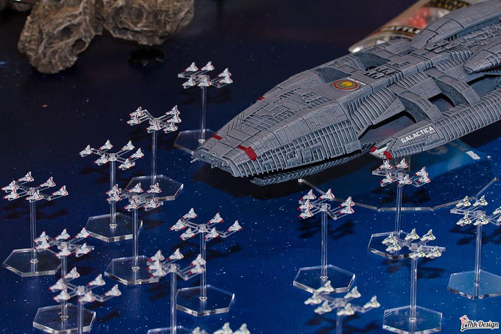 Ein einzelner Kampfstern wird unseren Basisschiffen niemals gewachsen sein.